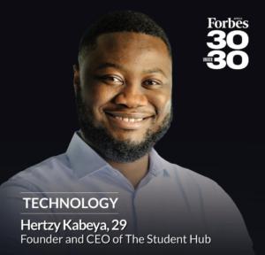 Forbes Africa list member Hertzy Kabeya